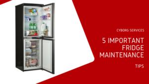 refrigerator maintenance tips | Cyborg Services