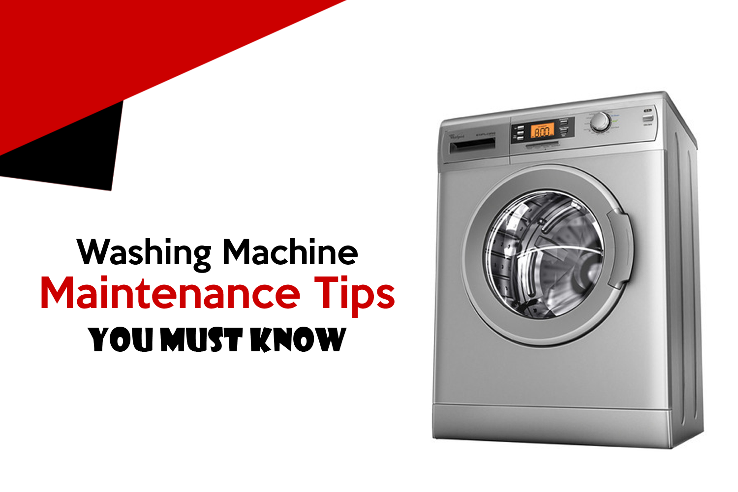 Washing Machine Maintenance Tips You Must Know Cyborg